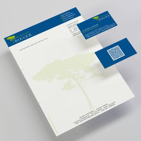 Baumpflege Bieger Corporate Design