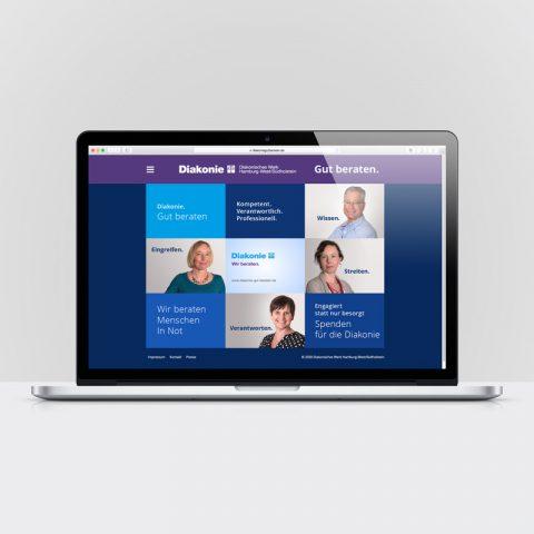 Diakonie Kampagnen Webseite
