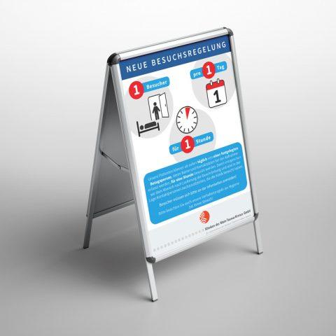 Kliniken Poster Coronaregeln