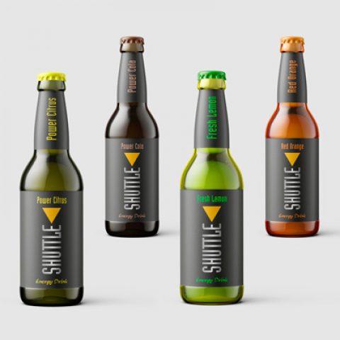 Shuttle Drinks Label-Design