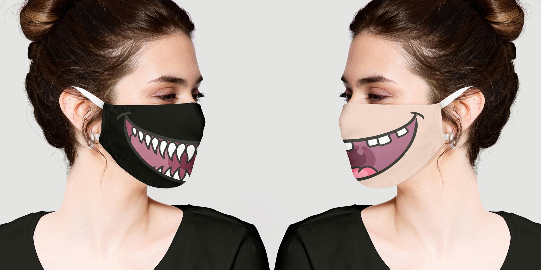 Witzige Corona Masken